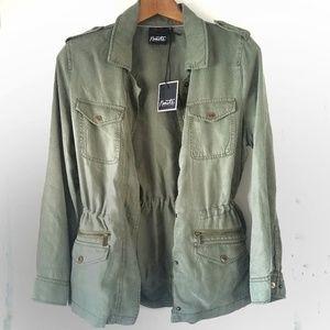 Nanette Lepore | Olive Military Utility Jacket NWT